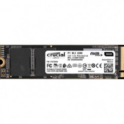 CRUCIAL - SSD Interne - P1 - 500Go - M.2 (CT500P1SSD8)
