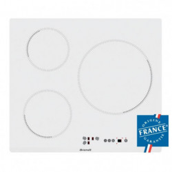 BRANDT BPI6315W - Table de cuisson-Induction-3 zones-7200W