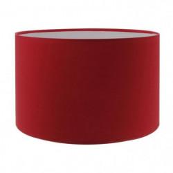Abat-jour forme Cylindre - Ø 19 x H 14 cm - Polycoton - Roug
