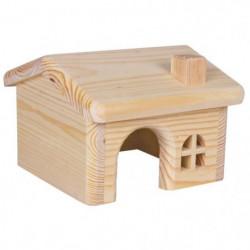TRIXIE Maisonnette en bois pour hamsters/souris 15 × 11 × 15