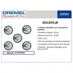 DREMEL 12 disques a plastiques EZ Speedclic 38mm
