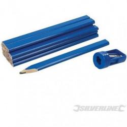 SILVERLINE Ensemble de crayons de menuisier et taille-crayon