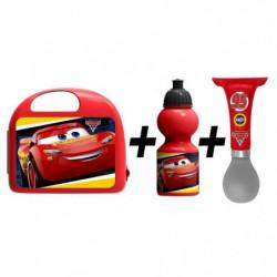 CARS Combo boîte a gouter + bidon + klaxon