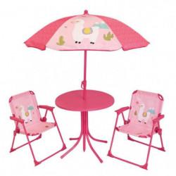 FUN HOUSE 713141 LOLA LAMA Salon de jardin avec une table ,
