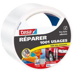 TESA Ruban de réparation Toilé 1001 Usages - 10m x 50mm - Bl