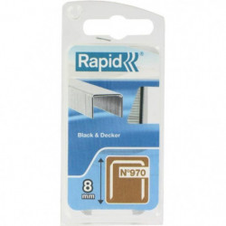 RAPID Agrafes galvanisées - Fil plat - N°970/8 mm