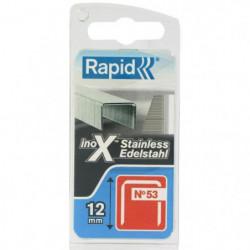 RAPID Agrafes acier inoxydable - Fil fin - N°53/12 mm