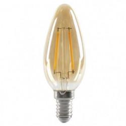 EXPERTLINE Ampoule LED filament ambrée E14 2 W équivalent a