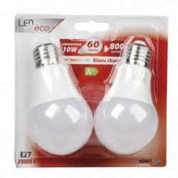 EXPERTLINE Lot de 2 Ampoules LED E27 10 W équivalent a 60 W