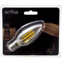 Ampoules LED E14 flamme filament ambré - 4 W équivalence 40