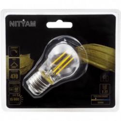 Ampoules LED E27 sphérique filament clair - 4 W équivalence