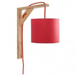 ÉQUERRE   Applique bois, rectangulaire, 30 cm, cordon avec i