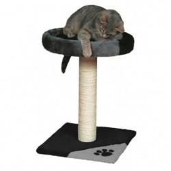 TRIXIE Tarifa Arbre à chat Hauteur 52 cm gris et noir peluch