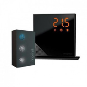 MOMIT HOME Thermostat Starter Kit Pure Black connecté