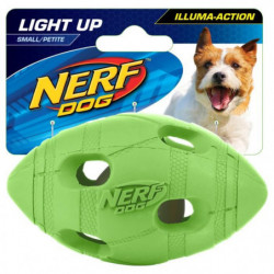 NERFDOG Balle ovale Flash LED S 4 cm - Vert et orange - Pour