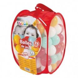 LUDI 75 balles de jeu avec sac de transport Rouge