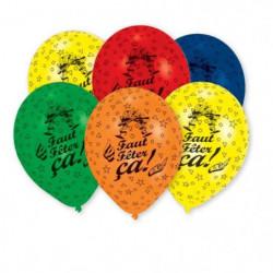 AMSCAN Lot de 6 Ballons en latex imprimé Faut Feter Ça - 25,