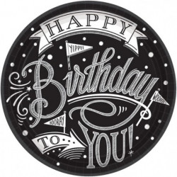 AMSCAN Lot de 18 Assiettes carton Hooray It's Your Birthday