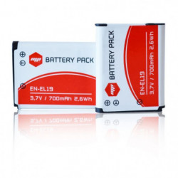 2 x batteries EN-EL19, ENEL19 pour NIKON - MP EXTRA