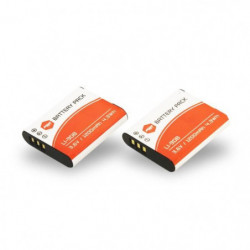 2 x batteries LI-90b, LI90B pour OLYMPUS - MP EXTRA