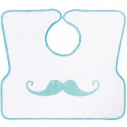 BABYCALIN Bavoir Imprimé Tablier Bébé Moustache - 40X45 cm