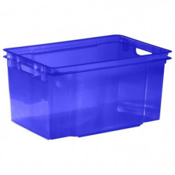 ALLIBERT Boîte de rangement bleu transparent Crownest - Empi