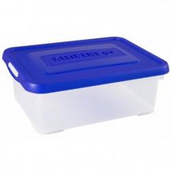 ALLIBERT Boîte de rangement Handy - Couvercle bleu - 12 L