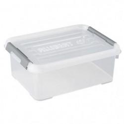 ALLIBERT Boîte de rangement Handy Plus - Clips gris - Couver