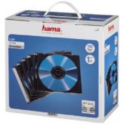 "HAMA 00051270 Boîtier CD ""Slim"" - Boîte de 100 -Transparent"