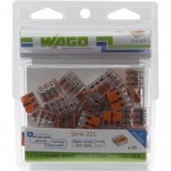 WAGO Pack de 50 Bornes de connexion universelle tous conduct