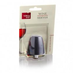 VACUVIN Bouchon verseur noir pour bouteille de vin