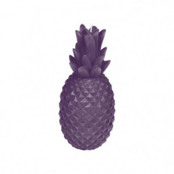 Bougie ananas H 20,5 cm Violet