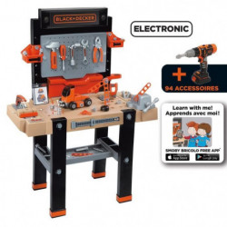 SMOBY Black & Decker Etabli Bricolo Ultim +95 Acs