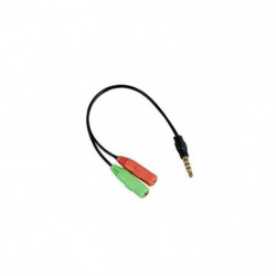 APM 422022 Adaptateur Jack 3.5 mm Mâle / Micro Et Casque Fem