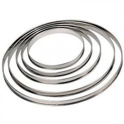 DE BUYER Cercle à tarte - Inox - Ø 22 x H 2 cm - Tous feux d