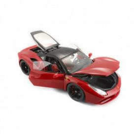 BURAGO Véhicule Ferrari Signature 488 GTB rouge en métal
