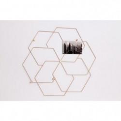 Cadre photo métal géométrique - 56x51 cm