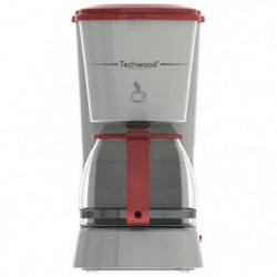 TECHWOOD TCA-685 Cafetiere filtre - Gris et Rouge