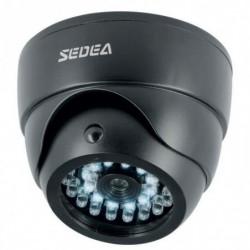 SEDEA Caméra de surveillance factice dôme avec détecteur de