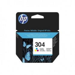 HP Cartouche d'encre 304 - Trois couleur : Jaune, Magenta, C