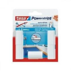 TESA 5 fixations pour câbles + 6 Mini Powerstrips