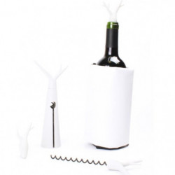 Kit Foret blanc - 1 tire-bouchon, 1 housse rafraichissante e