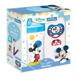 DODIE Mon Coffret Mickey (1 biberon Initiation+ 330ml bleu,