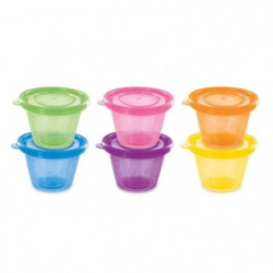 DBB REMOND Set de 6 petits pots avec couvercles