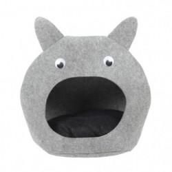 BUBIMEX Panier Tete de chat en feutre 50 x 50 cm - Gris - Po