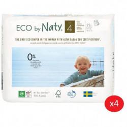 NATY - Lot de 4 paquets de Culottes d'apprentissage Taille 4