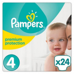 PAMPERS Premium protection Couches Taille  4 x24