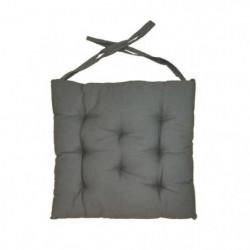 Galette de chaise 8 points 40x40x4 cm GRIS FONCE