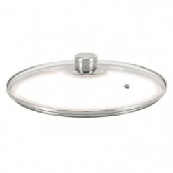 BEKA Couvercle verre Cristal - Ø 24 cm - Transparent et gris