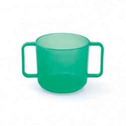PLASTOREX Tasse à anses  micro-ondable Polypropylene menthe